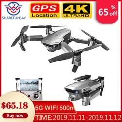 Zangão duplo eletrônico do quadcopter do zumbido da anti-agitação 50x com câmera vs e520s zangão do zangão sg907 hd gps 4 k 1080 p 5g wifi