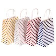 30 sztuk/partia gwiazdy paski torby na prezenty torby papierowe urodziny wesele na prezenty z uchwytem 21*15*8cm hurtowni
