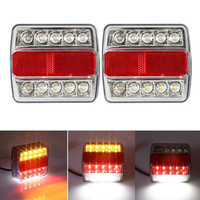2pcs Rear Led Trailer Tail Lights Kit Truck Waterproof Universal 12v 15led Campers Trailer Taillights