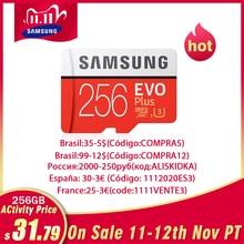 SAMSUNG карта памяти Micro SD 512G карта памяти 256 ГБ 128 Гб 64 Гб 100 МБ/с. SDXC C10 U1U3 UHS I, мicro SD, TF, флеш карта, 32 ГБ для смартфонов/планшетов