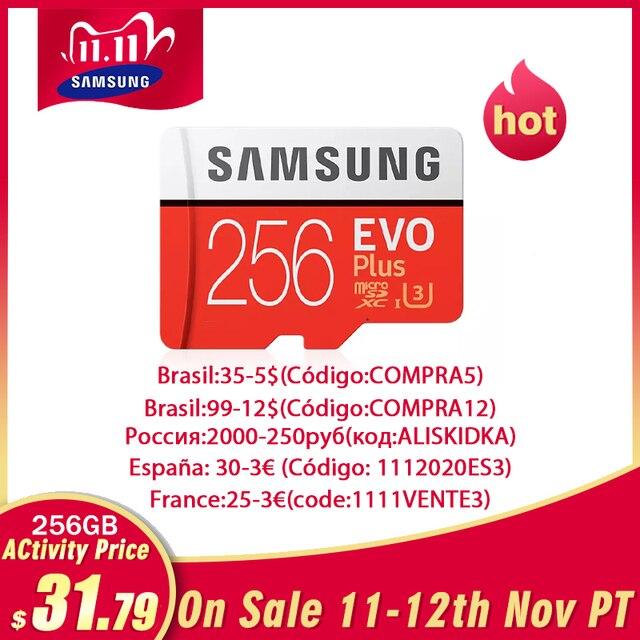 Samsung Micro Sd 512G Geheugenkaart 256Gb 128Gb 64Gb 100 Mb/s Sdxc C10 U1U3 UHS I Microsd tf Flash Card 32Gb Voor Smartphone /Tablet