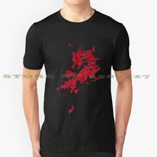 Rosso scuro Drago Fresco Design Alla Moda T-Shirt Tee Rosso Scuro Nero Drago Game Of Thrones Fantasy Magia Magico Creatura Gioco video(China)