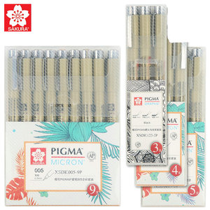 Sakura XSDK 005/01/2/3/4/5/8/1.0 Pigma Micron Fine Line Pen Set Multi-Color Needle Drawing Brush Pen Sketching Art Supplies