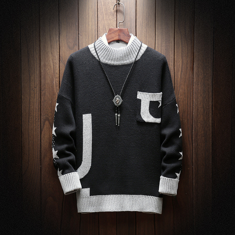 2020 New Winter Mens Warm Sweater Fashion Cotton Long Sleeve Mens Knitted Sweater Casual Loose Fit Pullover Tops Plus Size M-5XL