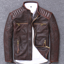 Genuine Man Motorcycle Serve Loose Coat Halley Locomotive Leather Clothing European Do Used Head Lay