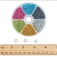 Connecteurs d'anneaux de saut ronds, 6 couleurs, 6mm, 1080 pièces, pour colliers ras du cou, Bracelet, chaîne, Maille, fabrication de bijoux