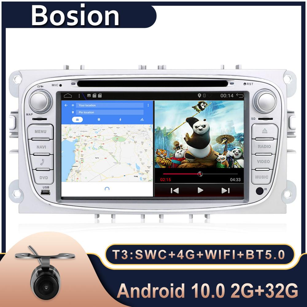 Bosion Android 10.0 car DVD For Ford/Focus/S-Max/Mondeo 9/GalaxyC-Max Car Radio Multimedia Video Player Navigation GPS 2din image