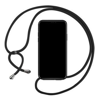 Crossbody etui na LG X2 K20 K30 2019 K41S K40 S K50 K51S K61 Q70 K50S Q60 smycz naszyjnik pasek na ramię przewód czarna okładka przypadku tanie i dobre opinie Aipipixia CN (pochodzenie) Etui z klapką Crossbody high quality shockproof silicone Zwykły Anti-knock Odporna na brud