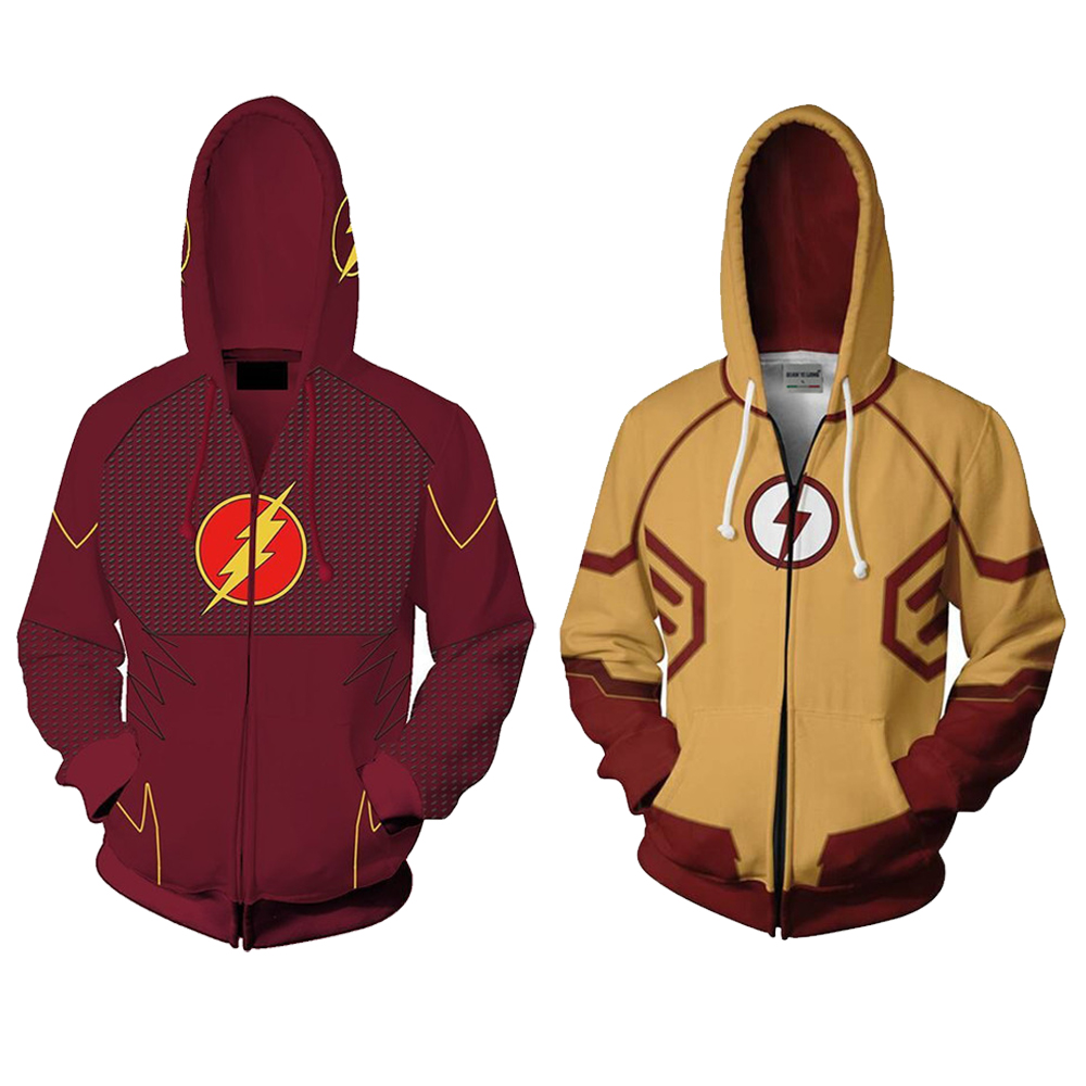 The Flash Reverse-Flash Mens Thin Hoodie Funny jacket Full Zip Coat Sweatshirt