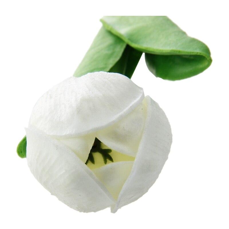 10 шт. белый цветок тюльпана латекс Настоящее Прикосновение Для Свадебный букет KC456