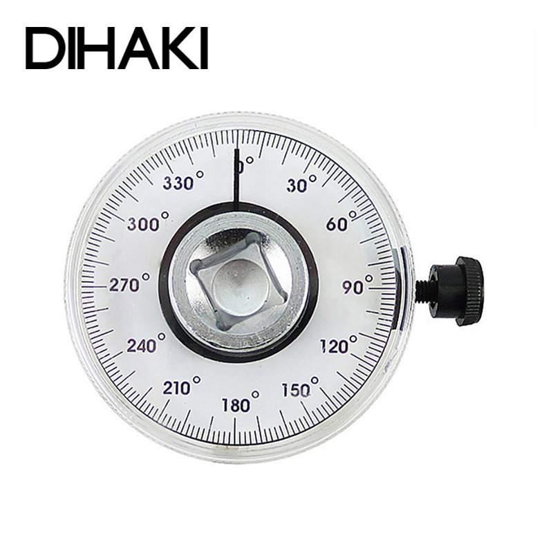 """Car Auto 1//2/"""" Torque Wrench 360° Angle Gauge Dial Meter Measurer Two Lengths"""