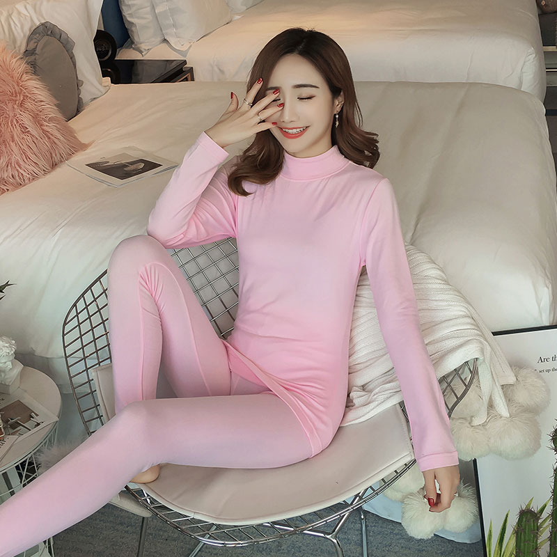 Solid Thermal Underwear Women Slim Shaping Long Johns Winter Thermal Set Boss Warm Clothes For Women