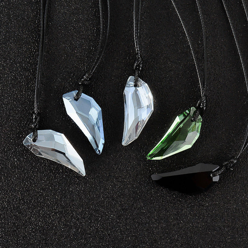 Men's Wolf Tooth Necklace Crystal Natural Stone Pendant Women Jewelry Fashion