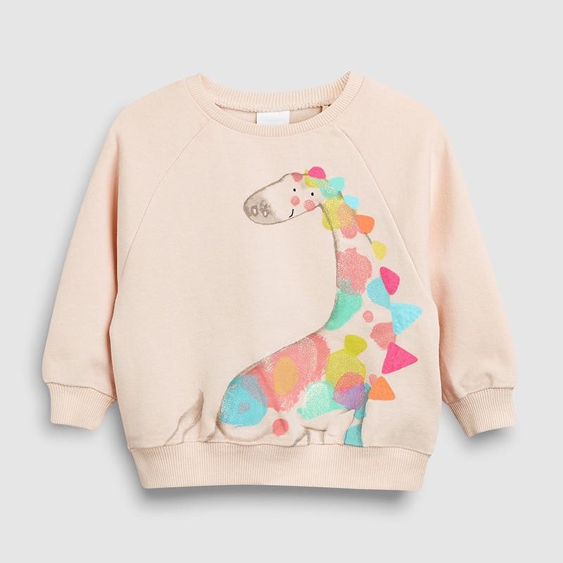 Little maven 2-7Years Autumn Rainbow embroidery Toddler Kids Baby Girl Sweatshirt Children's Little Clothing For Girl's Sweater 3