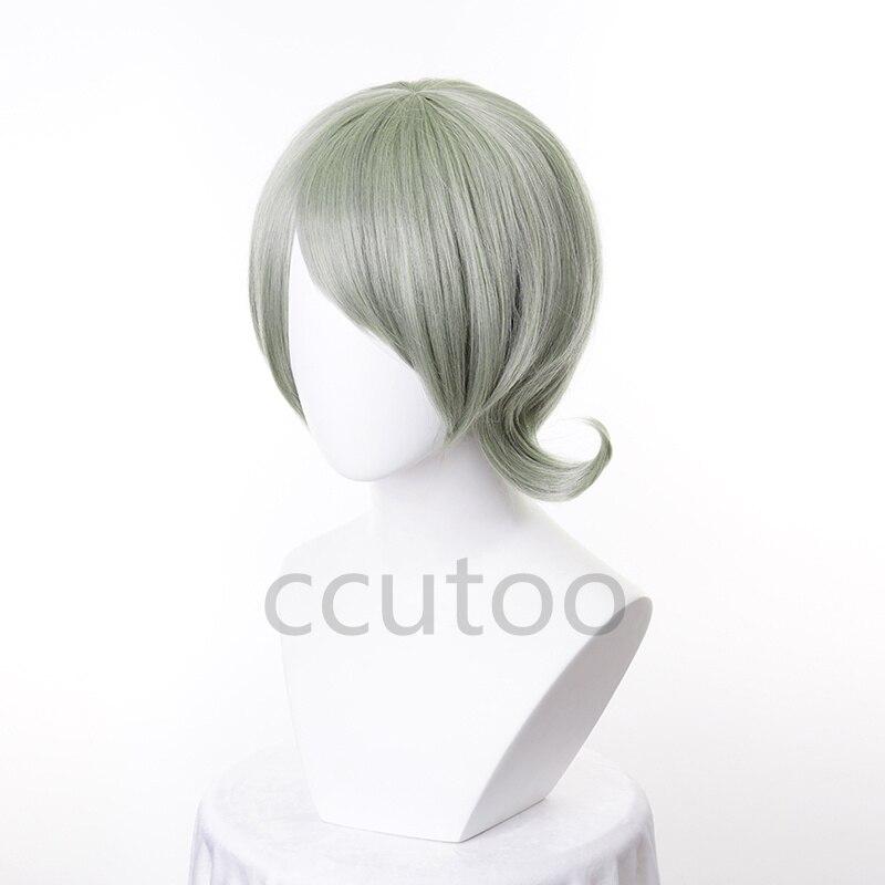 perucas festa de halloween cabelo sintético curto estilo + peruca boné