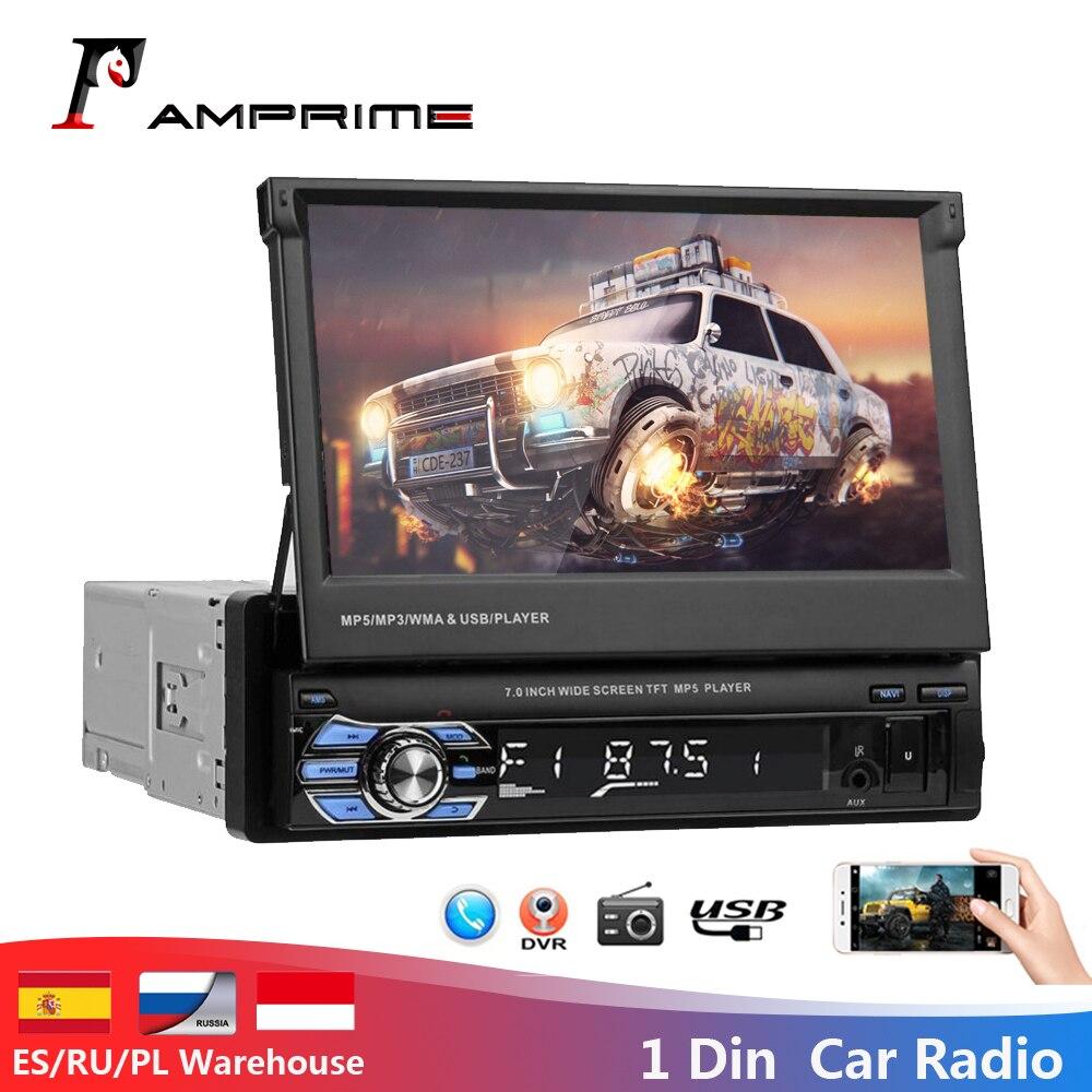 AMPrime 2 din Автомобильный Радио 2din Аудио мультимедийный плеер BT FM USB AUX Авторадио 12 В HD стерео Oto Teypleri Выдвижной аудио