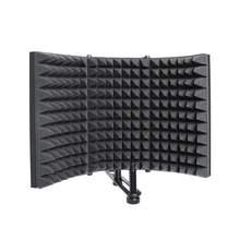 Protector plegable de aislamiento acústico para micrófono, Panel de espuma de aleación para grabación de estudio, accesorios para micrófono