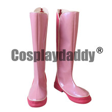 "Adventure Time tercera temporada 3 lo que falta princesa Bonnibel ""Bonnie"" Bubblegum PB Peebles p-bubs Cosplay zapatos botas S008(China)"