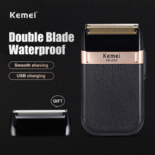 Kemei Electric Shaver for Men Twin Blade