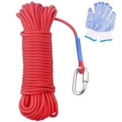 Magnes wędkarski 20 metrów  ciężka lina z mechanizm blokady  uniwersalny nylonowy sznur o wysokiej wytrzymałości bezpieczna lina 65 stóp  średnica 6Mm w Zewnętrzne narzędzia od Sport i rozrywka na