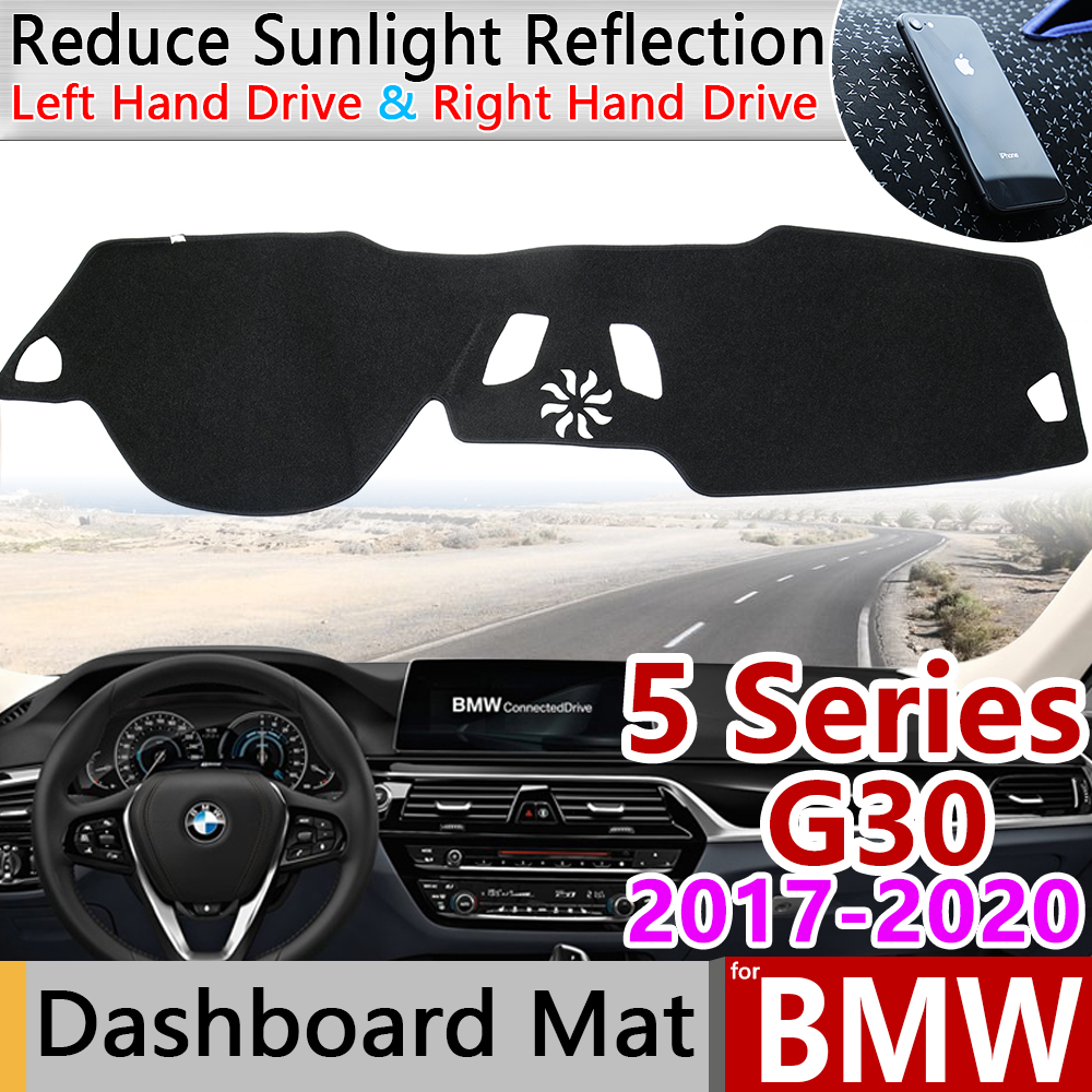 For BMW 5 Series G30 2017 2018 2019 2020 Anti-Slip Mat Dashboard Cover Pad Dashmat Carpet Cape Accessories 520i  525i 530i 540i