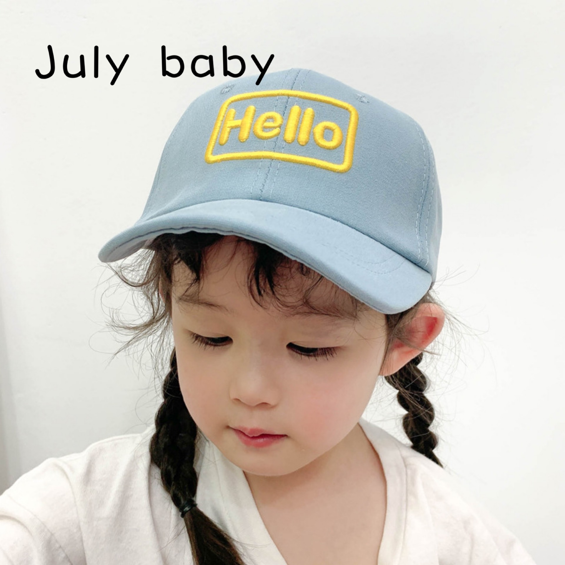 July Baby 2020 Spring And Summer New Children's Hat Baseball Cap Sun Hat Embroidery Sunscreen Girl Cute Letter Cap