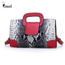 купить FUNMARDI Luxury Brand Women Bags Serpentine Patchwork Women Handbag PU Leather Messenger Bag Envelope Shoulder Bag New WLHB2008 по цене 1234.24 рублей