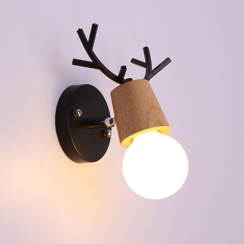 Northern Europe Milu Wall Lamp Originality Coffee Restaurant Cake Shop Cozy Florist Bedroom Bedside Lovely Ins Wall Lamp