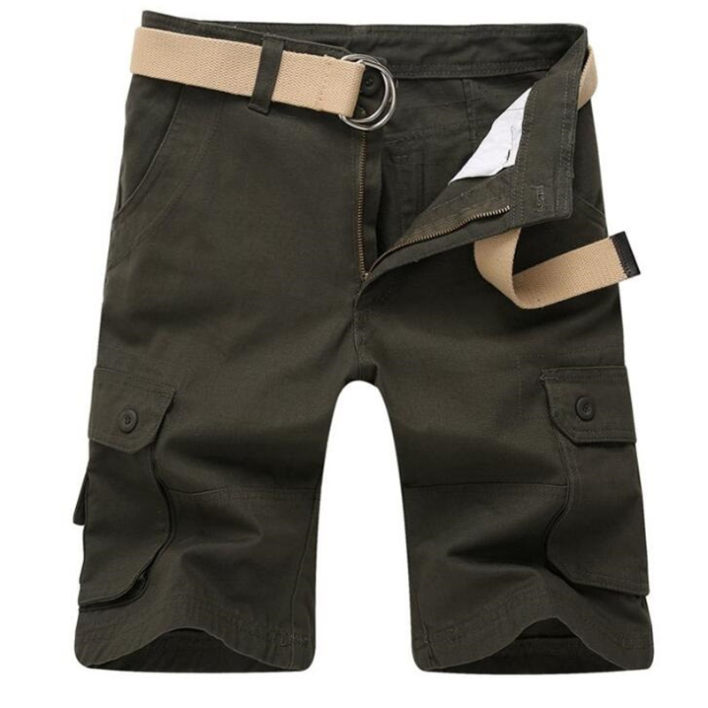 Summer Men Casual Shorts Baggy Multi Pocket Military Cargo Short Breeches Male Straight Tactical Shorts Bermuda Masculina 57
