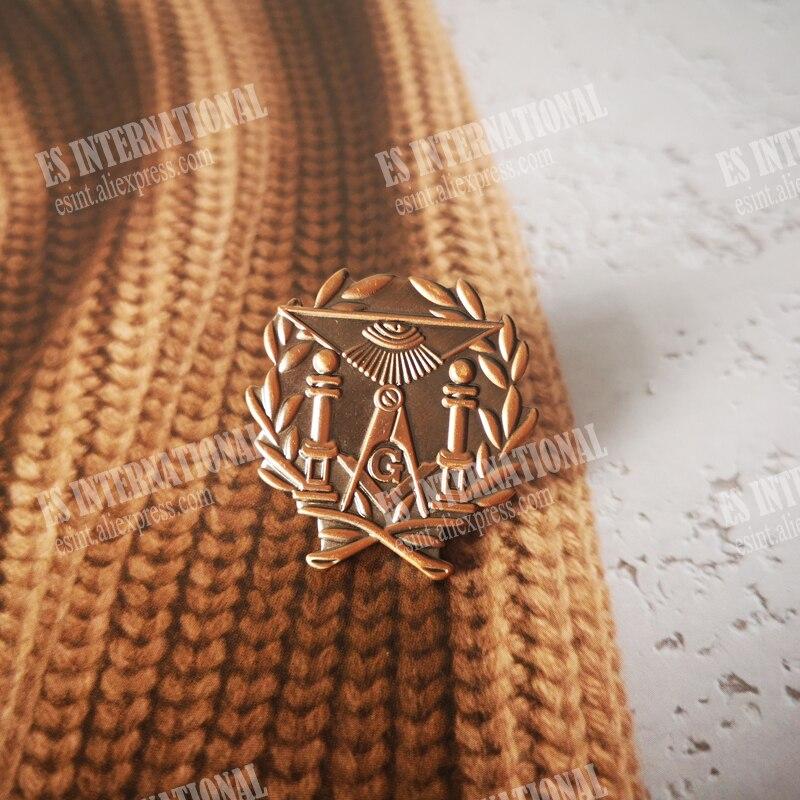Masonic Lapel Pins Badge Mason Freemason antique brass  Zinc alloy material  exquisite souvenirs  gifts