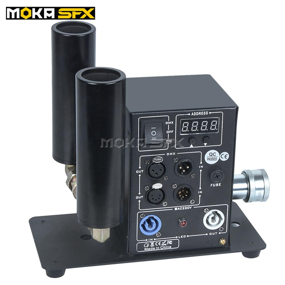 Co2 Jet Machine Dmx512 Control Double Nozzle Digital Co2 Jet Cannon Co2 Cyro Strong Smoke Effect For Stage Party Show