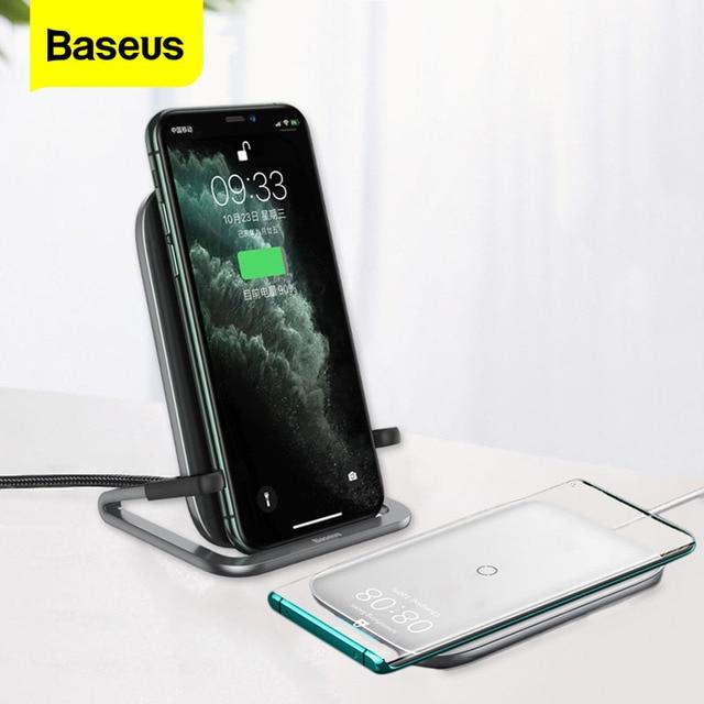 Baseus 15ワットチーワイヤレス充電器iphone 11プロマックスxsサムスンS10 S9 S8高速充電xiaomi 8 9プロ電話ホルダー