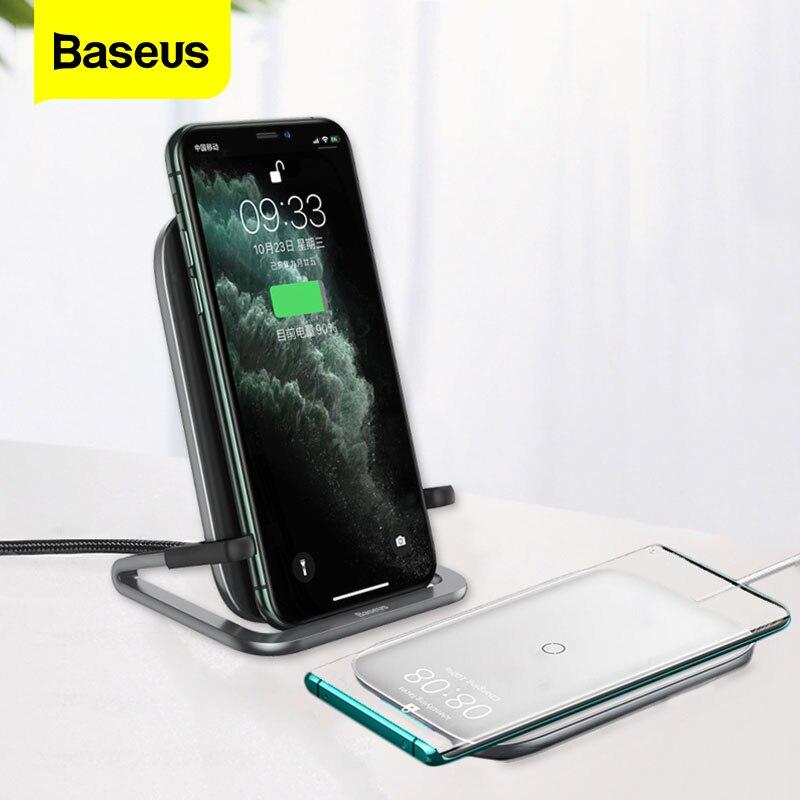 Baseus 15W Qi kablosuz iphone şarj cihazı 11 Pro Max Xs Samsung S10 S9 S8 hızlı kablosuz şarj için Xiaomi 8 9 Pro telefon tutucu