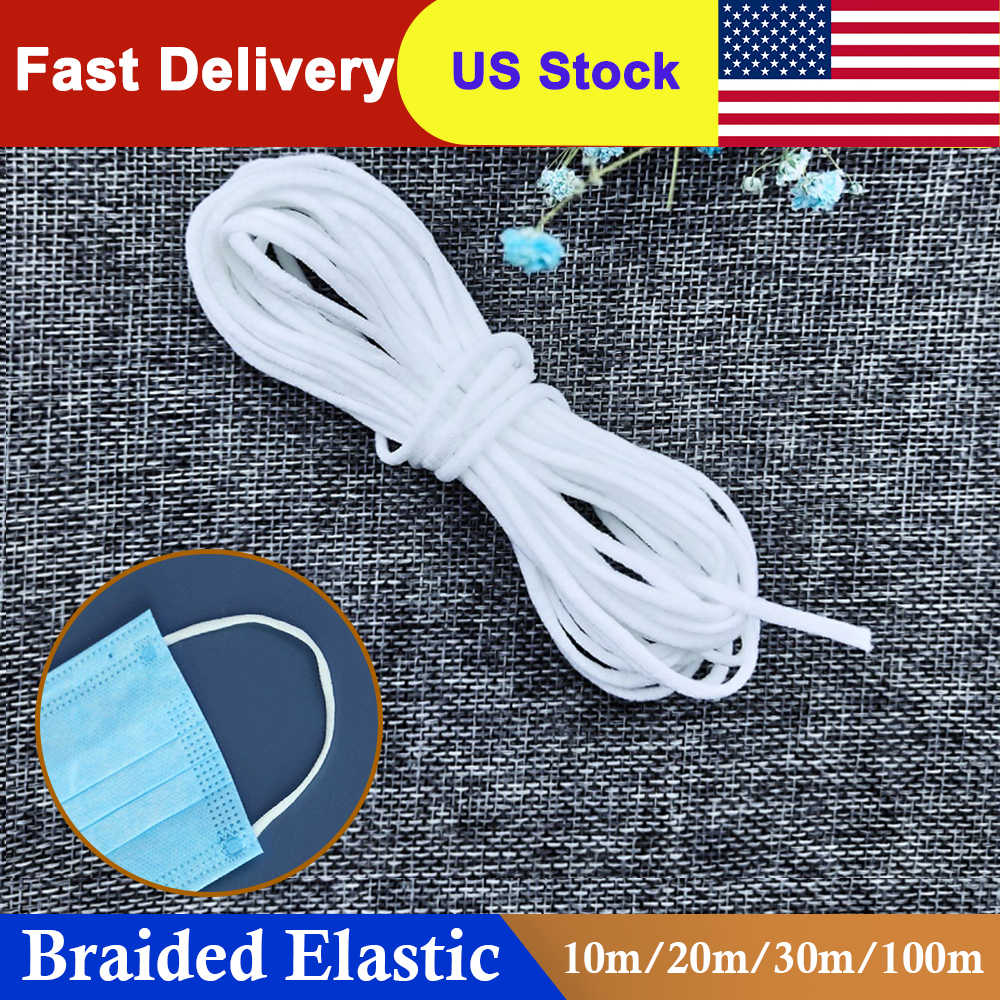 1 Roll Elastic Band Face Mask Band Mask Rope Rubber Band String