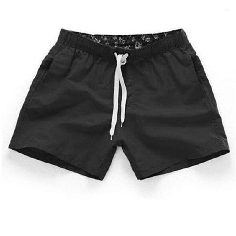 2019 New Summer Board Shorts  Casual Solid Mid Beach Shorts  Printed Waist Shorts Man Straight Drawstring Shorts S-3XL Hot Sale