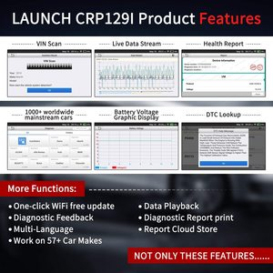 Image 5 - إطلاق CRP129i OBD2 تشخيص أداة ل ENG/AT/ABS/SRS متعدد اللغات تحديث مجاني إطلاق OBD 2 سيارة الماسح الضوئي ODB رمز قارئ