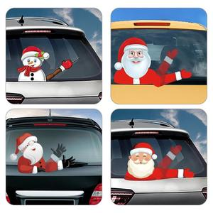 Image 4 - Christmas Car Rear Windshield Wiper Stickers Removable Waterproof Windscreen Window Decals Universal Auto Styling Decoration