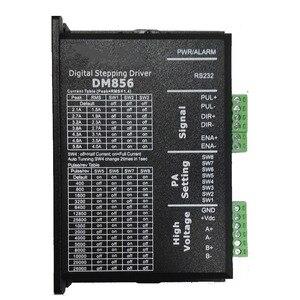 Image 1 - DM856 Stepper Motor Controller Original 57 86 Digital Stepper Motor Driver 20 80 Vdc 1A to 5.6A For Leadshine NEMA23 NEMA34