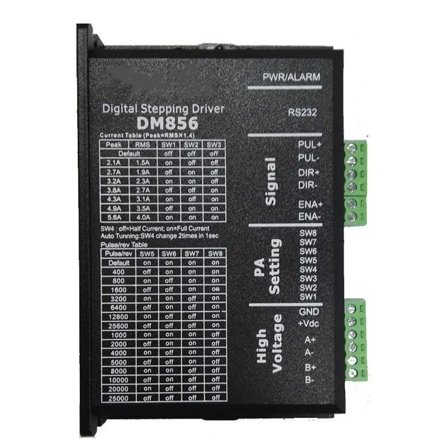 DM856 Stepper Motor Controller Original 57 86 Digital Stepper Motor Driver 20 80 Vdc 1A to 5.6A For Leadshine NEMA23 NEMA34