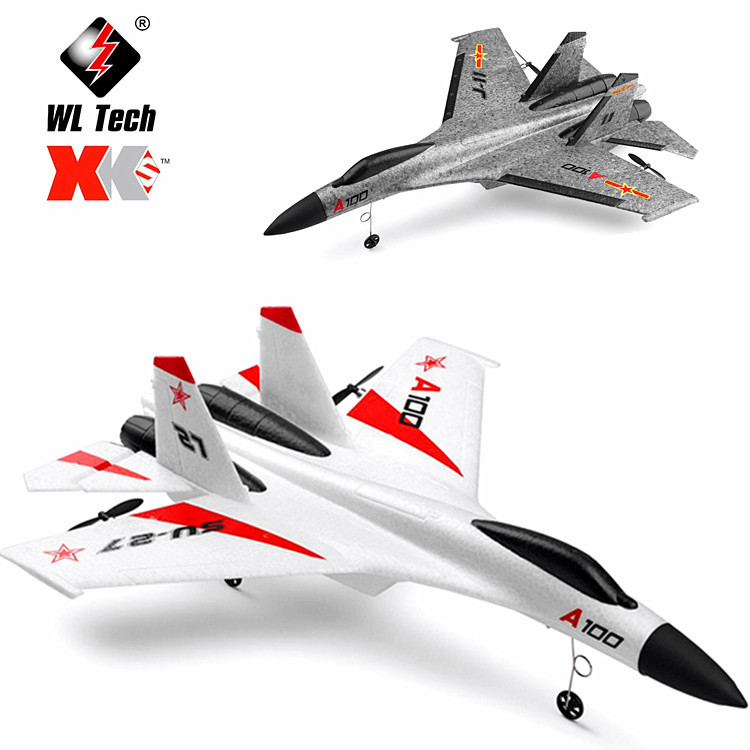 Weili XK A100 Su-27 Fighters 11 Three-Channel Fixed-Wing Remote Control Glider Airplane Model Toy