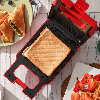 Sandwich Machine Toaster Breakfast Machine Artifact Household Bread Light Food Machine Waffle Multi-Function Spitting Driver 1