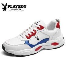 PLAYBOY nowe obuwie moda męskie buty na co dzień wiosenne i jesienne buty męskie skóra pu dla mężczyzn buty płaskie buty męskie Zapatillas PZ2950005