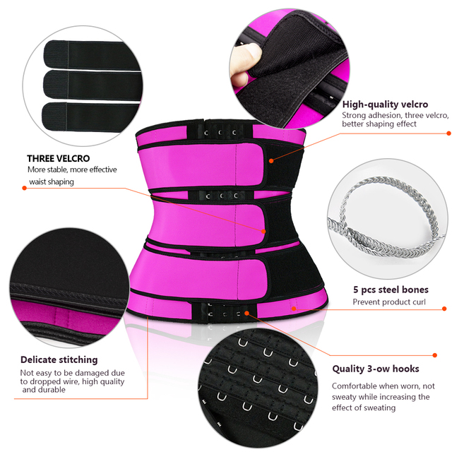 Waist Trainer Thermo Sweat Slimming Belt Waist Trainer Girdle Corset Women Tummy Body Shaper Fat Burning Fitness Modeling Strap 1