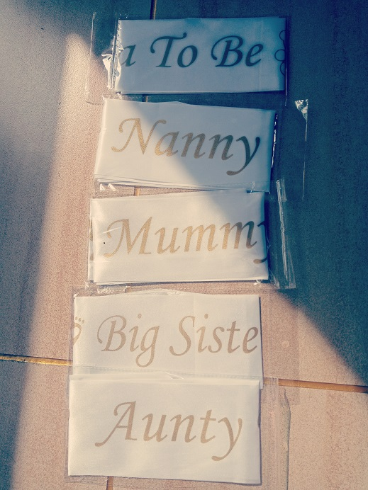 Mummy to Be Satin Ribbon Sash with Footprint Bear New Mom Baby Shower Party Favor CTY