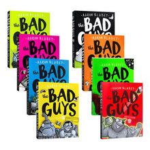 8 Book set The Bad Guys odcinek dekoracja w klasie zabawki edukacyjne dla dzieci Montessori angielskie książki dla dzieci tanie tanio HAPPY MONKEY 3 lat Papier