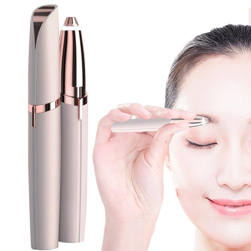 Portable Mini Eyebrow Shaver Razor Face Eyebrow Hair Remover Epilator Painless Electric Epilator Shaving Eyebrow Trimmer