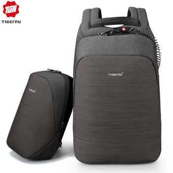Tigernu Anti theft Bag Set Splashproof for 15.6 Inch laptop Crossbody Messenger Bags Fit 9.7 iPad with USB Earphone Port Mochila - DISCOUNT ITEM  46% OFF All Category