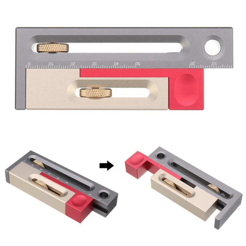Table Saw Gap Slot Regulator Slot Ruler Make The Mortise And Tenon Movable Measuring Block Length Compensation Tool 2020