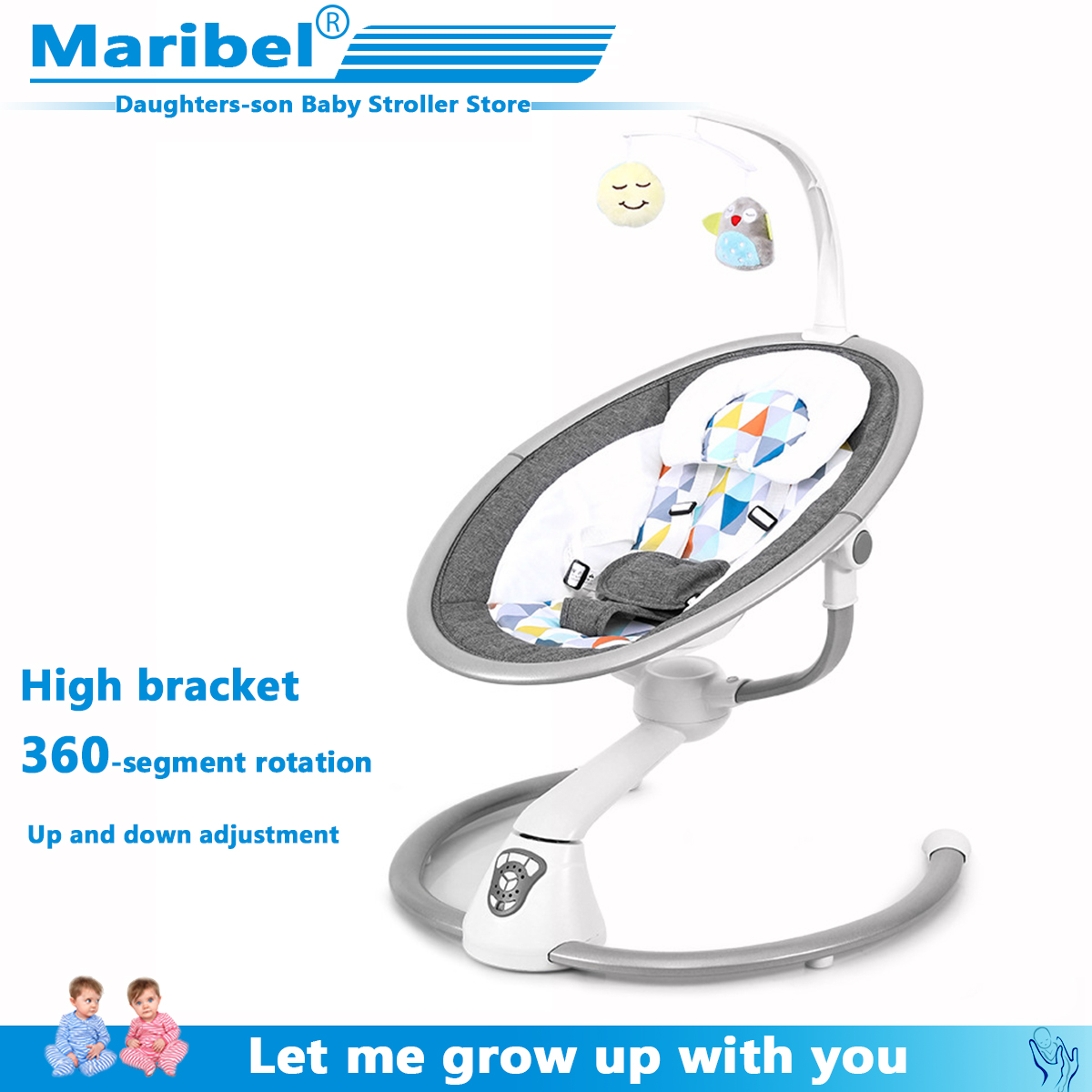 Safety Baby Rocking Chair Baby Electric Cradle Rocking Chair Soothing The Baby's Artifact Sleeps Newborn Sleeping Rocking Chair