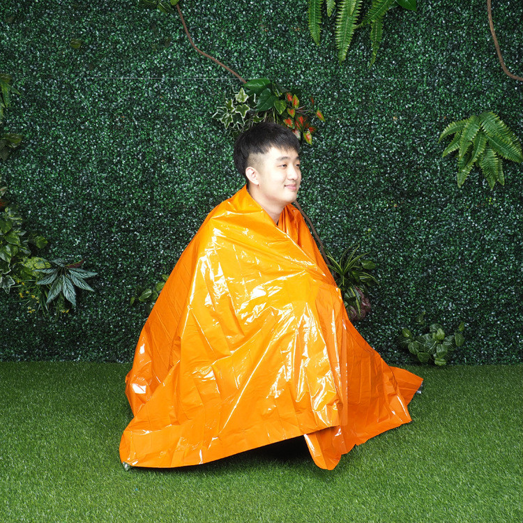 Outdoor PE Orange Emergency Blanket Life Blanket Warm Survival Blanket Rescue Emergency Blanket